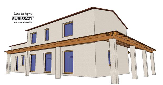 Realizzazione nuovo edificio in legno montemarciano an for Piccoli piani di portico in legno