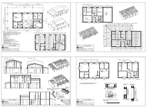 Realizzazione nuovo edificio in legno montemarciano an for Progetto casa in legno dwg