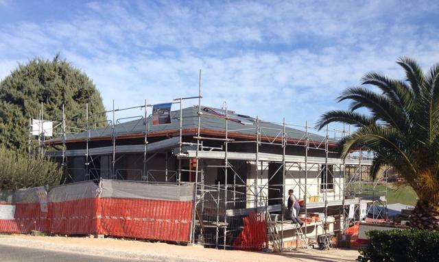 Iniziata la costruzione di un nuovo edificio in legno for Piano di costruzione dell edificio